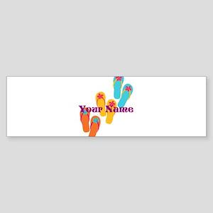 Personalized Flip Flops Bumper Sticker