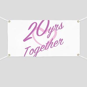 Cute 20th Anniversary Banner