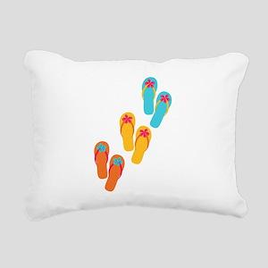 Trio of Flip Flops Rectangular Canvas Pillow