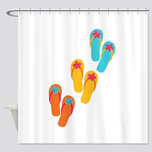 Trio of Flip Flops Shower Curtain