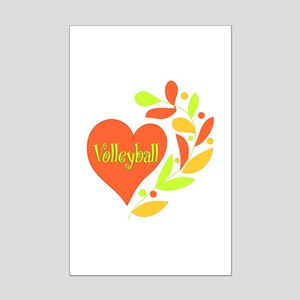 Volleyball Heart Mini Poster Print