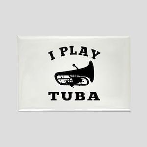 Tuba designs Rectangle Magnet