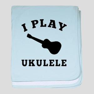 Ukulele designs baby blanket