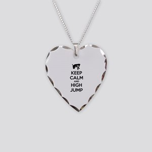 Keep calm and high jump Necklace Heart Charm