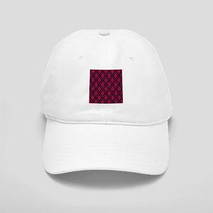 Pink and Black Decorative Baseball Cap