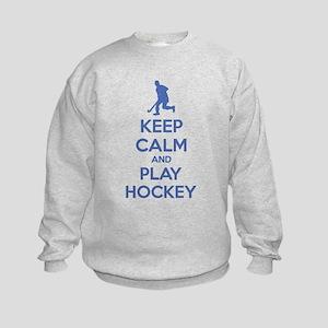 Keep calm and play hockey Kids Sweatshirt