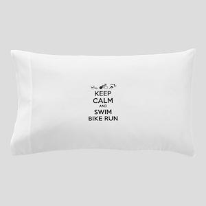 Keep calm and triathlon Pillow Case