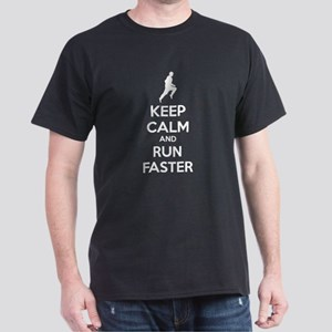 Keep calm and run faster Dark T-Shirt
