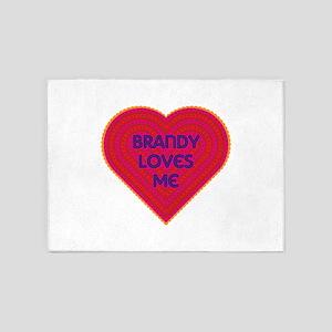 Brandy Loves Me 5'x7'Area Rug