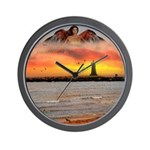 Angel Lighthouse - Wall Clock