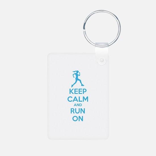 Keep calm and run on Keychains
