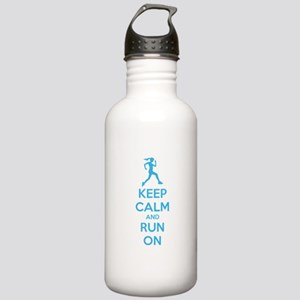 Keep calm and run on Stainless Water Bottle 1.0L