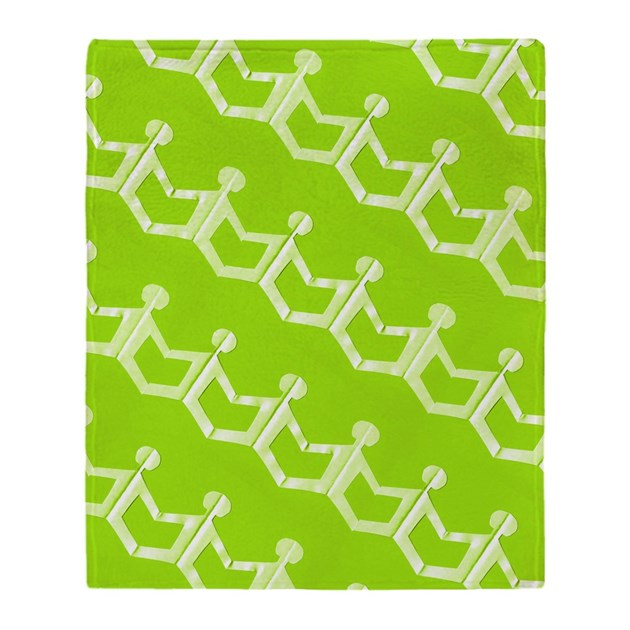 lime green paper doll party throw blanket by jojoandme. Black Bedroom Furniture Sets. Home Design Ideas