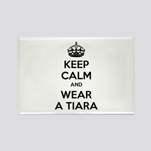 Keep calm and wear a tiara Rectangle Magnet