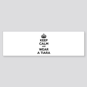 Keep calm and wear a tiara Sticker (Bumper)