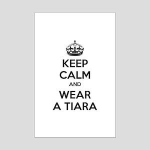 Keep calm and wear a tiara Mini Poster Print