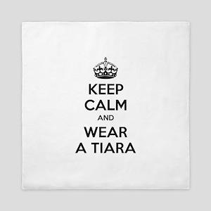 Keep calm and wear a tiara Queen Duvet