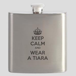 Keep calm and wear a tiara Flask