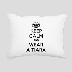 Keep calm and wear a tiara Rectangular Canvas Pill