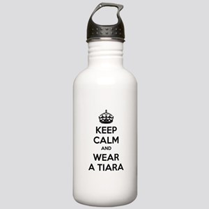 Keep calm and wear a tiara Stainless Water Bottle