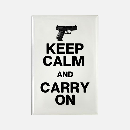 Keep Calm Carry On Rectangle Magnet