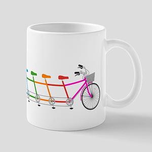 colorful tandem bicycle, team bike Mug