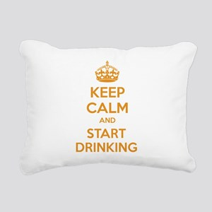 Keep calm and start drinking Rectangular Canvas Pi