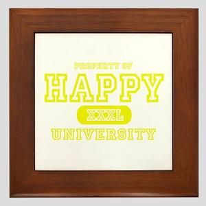 Happy University Framed Tile