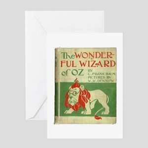 Vintage Wizard Of Oz Book Cover Greeting Card
