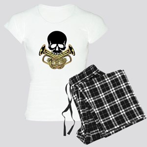 Skull with Tuba Crossbones Pajamas