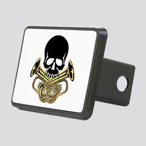 Skull with Tuba Crossbones Hitch Cover
