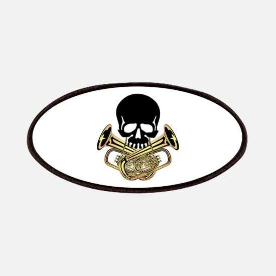 Skull with Tuba Crossbones Patches