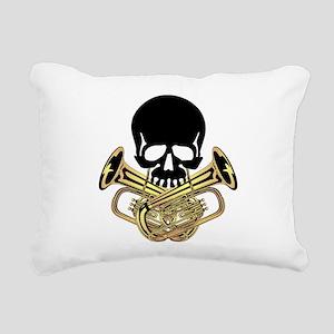 Skull with Tuba Crossbones Rectangular Canvas Pill