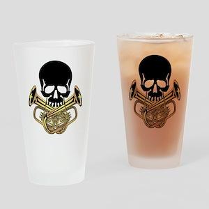 Skull with Tuba Crossbones Drinking Glass