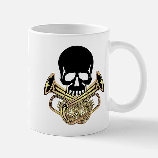Skull with Tuba Crossbones Mug