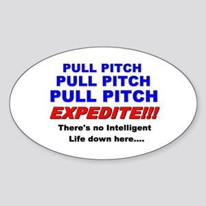 Pull Pitch Expedite Oval Sticker