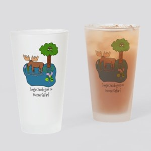 Moose Safari Drinking Glass