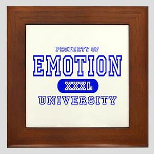 Emotion University Framed Tile
