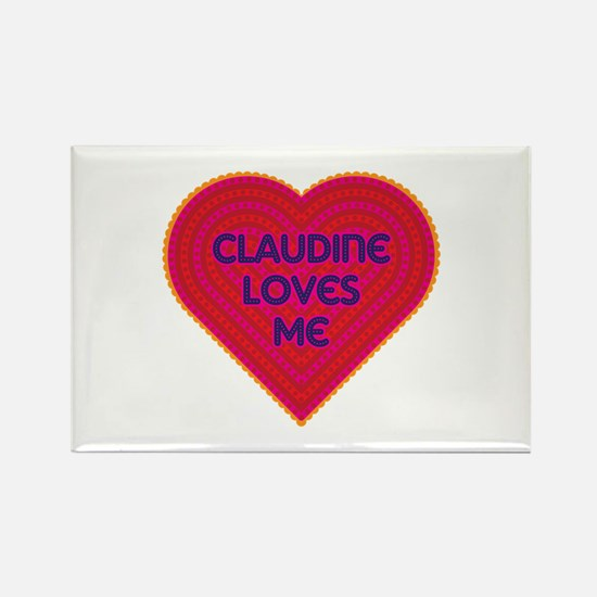 Claudine Loves Me Rectangle Magnet (100 pack)