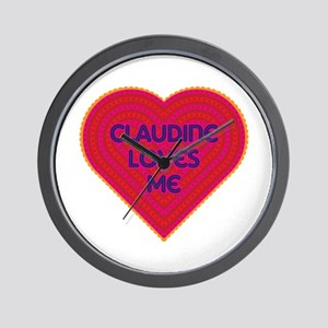Claudine Loves Me Wall Clock