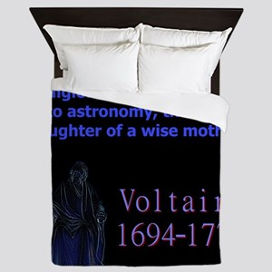 Superstition Is To Religion - Voltaire Queen Duvet