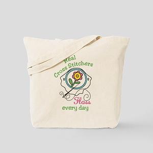 Real Cross Stitchers Tote Bag