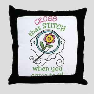 That Stitch Throw Pillow