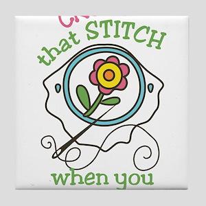 That Stitch Tile Coaster