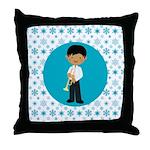Trumpet Player boy Gift Throw Pillow
