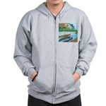 Alligator Hunting Zip Hoodie