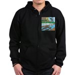 Alligator Hunting Zip Hoodie (dark)