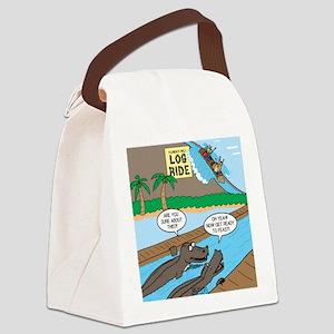 Alligator Hunting Canvas Lunch Bag