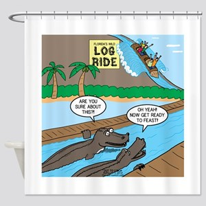 Alligator Hunting Shower Curtain