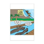 Alligator Hunting Mini Poster Print